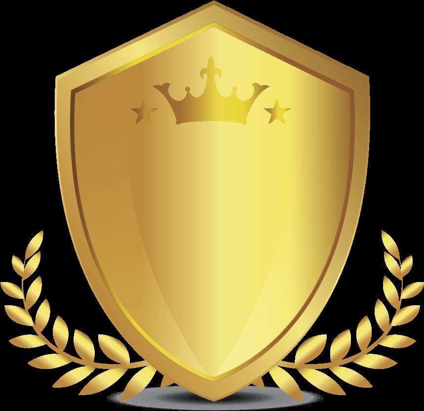 Gold Shield King Png