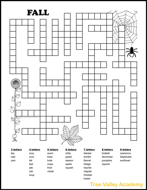 HD Fall Word Search Printable Free Images png