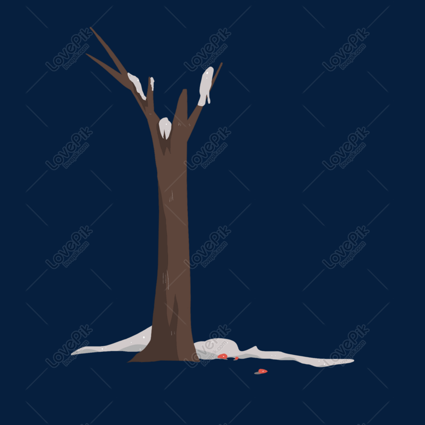 Hand Drawn Winter Dead Tree Free Download Png
