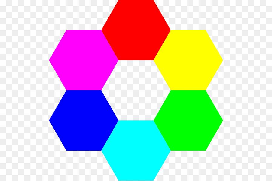 Hexagon Six Color png