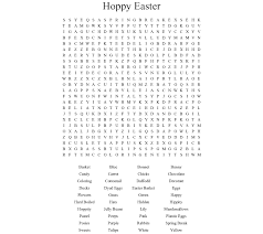 Hoppy Easter Word Search Printable png