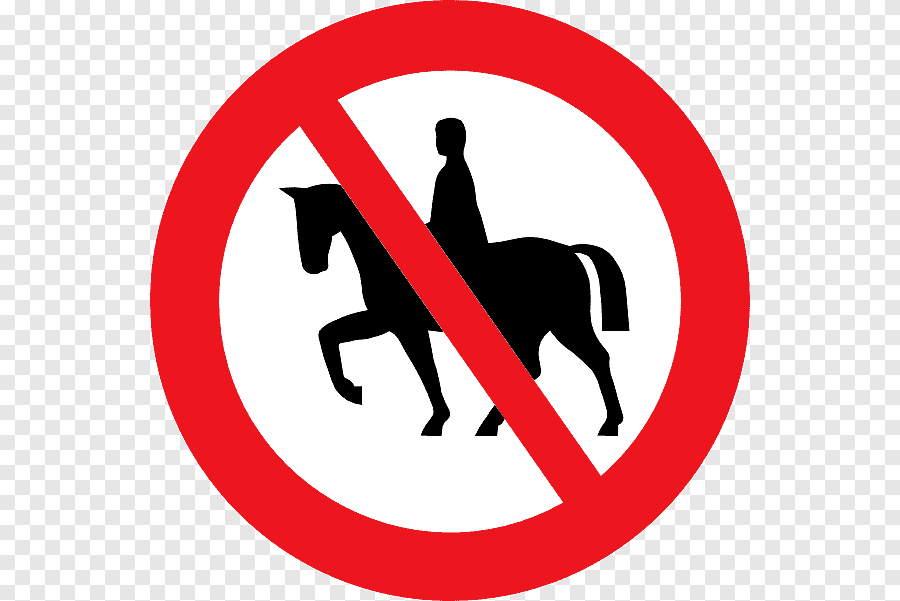 Horse Riding Prohibited Sign Png