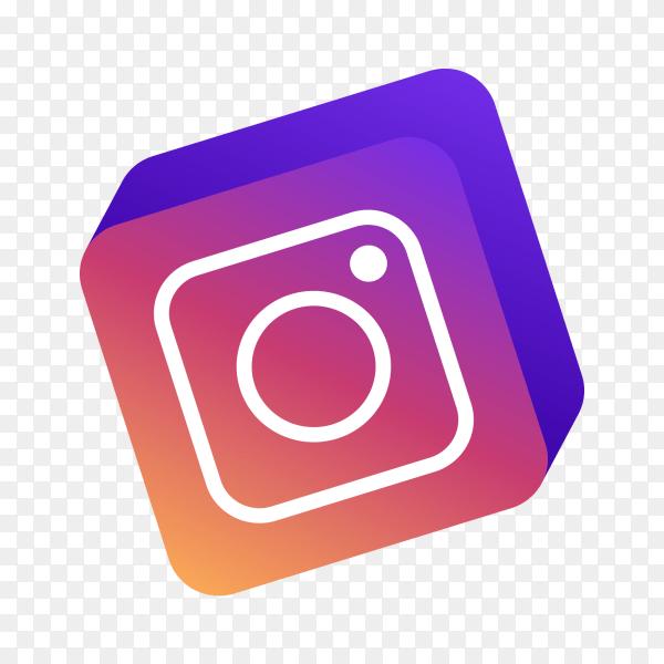 Instagram Logo 3D png