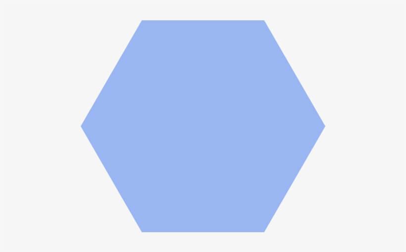 Light Blue Hexagon png