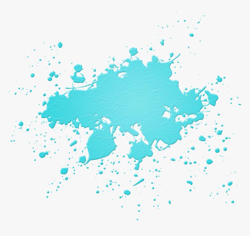 Light Blue Paint Splatter png