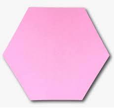 Light Pink Hexagon png