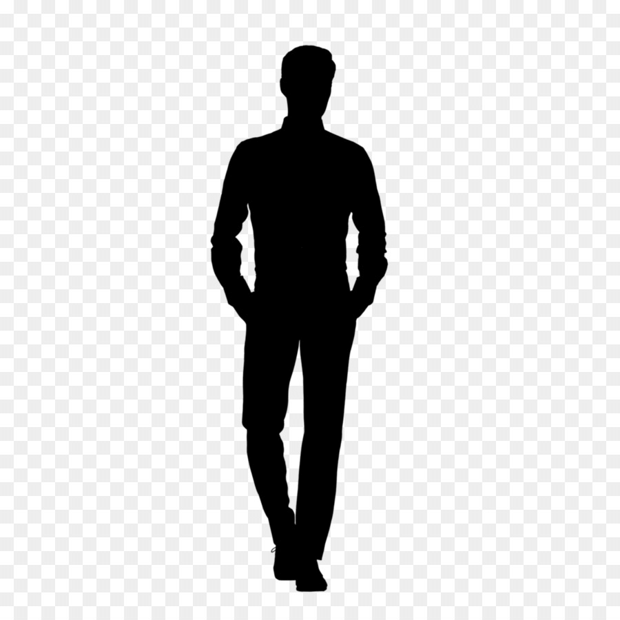 Male Silhouette Walkinh png