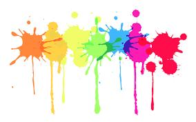 MultiColor Paint Splatter Free Idea png