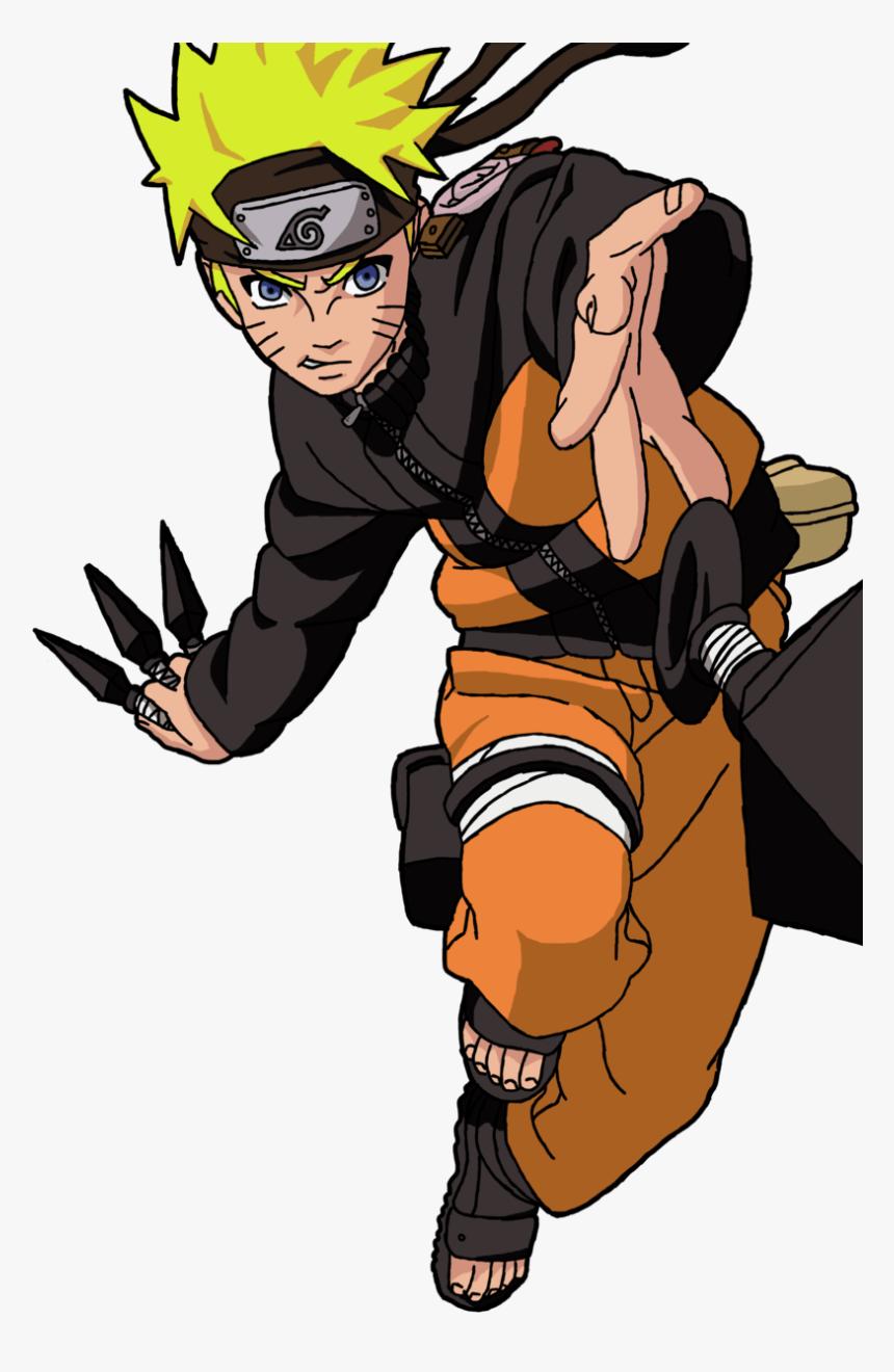 Naruto With Three Kunai png