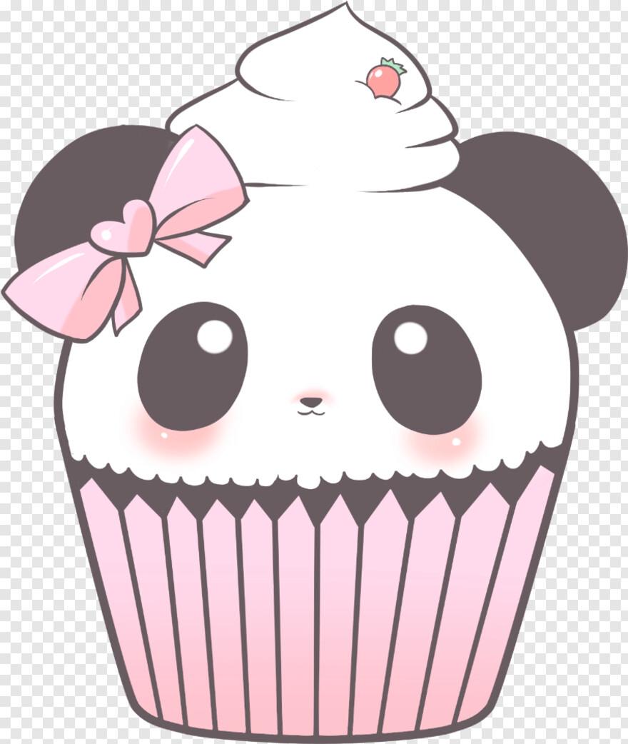 Panda Cute Cupcake Png