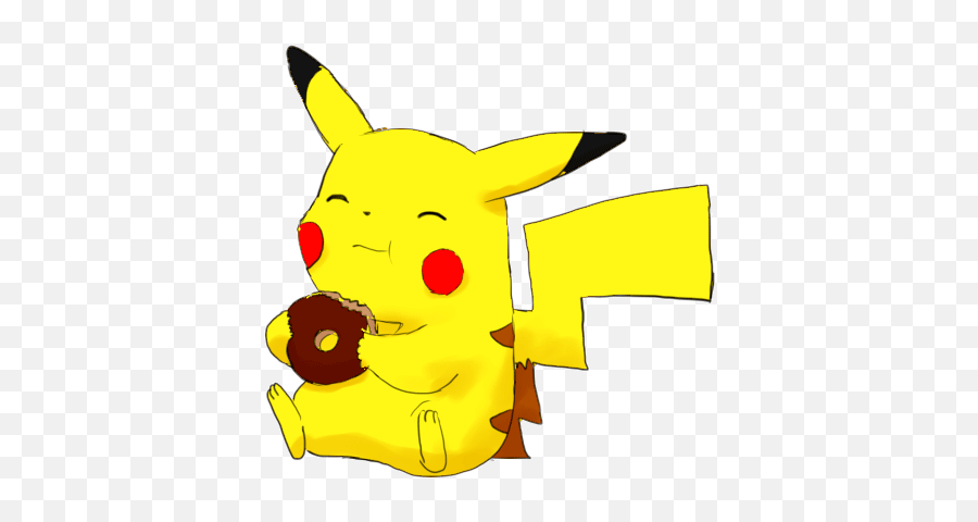 Pikachu Eating Donut Free Images Png