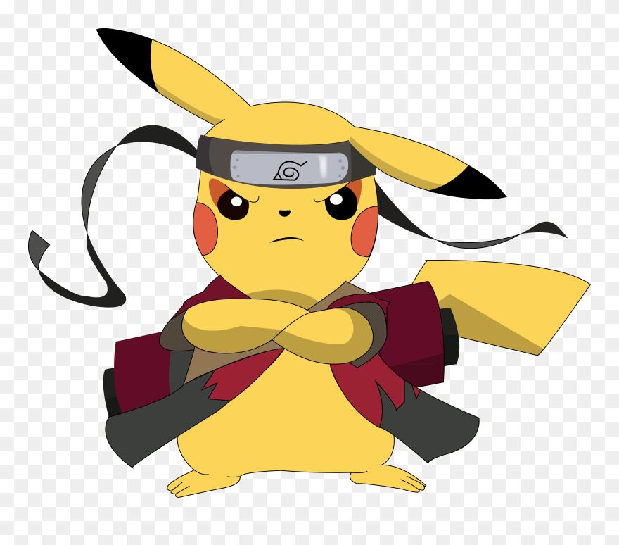 Pikachu Naruto Sage Mode png