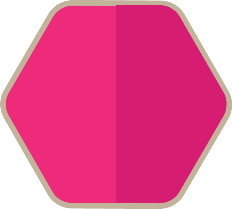Pink And Gray Hexagon png