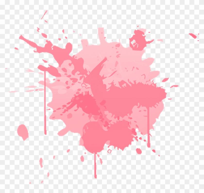 Pink Paint Splatter Free Images png