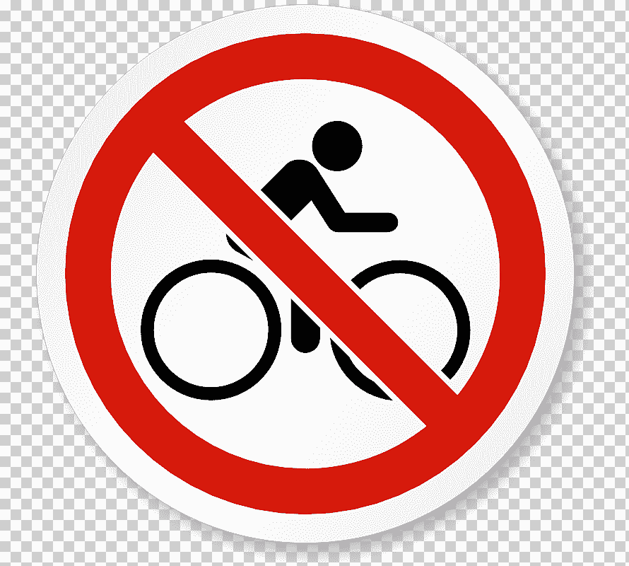 Prohibited Sign Bike Png