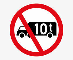 Prohibiting Sign Vehicles Over 10 Tons Png