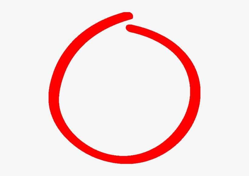 Red Circle Hand Drawn png
