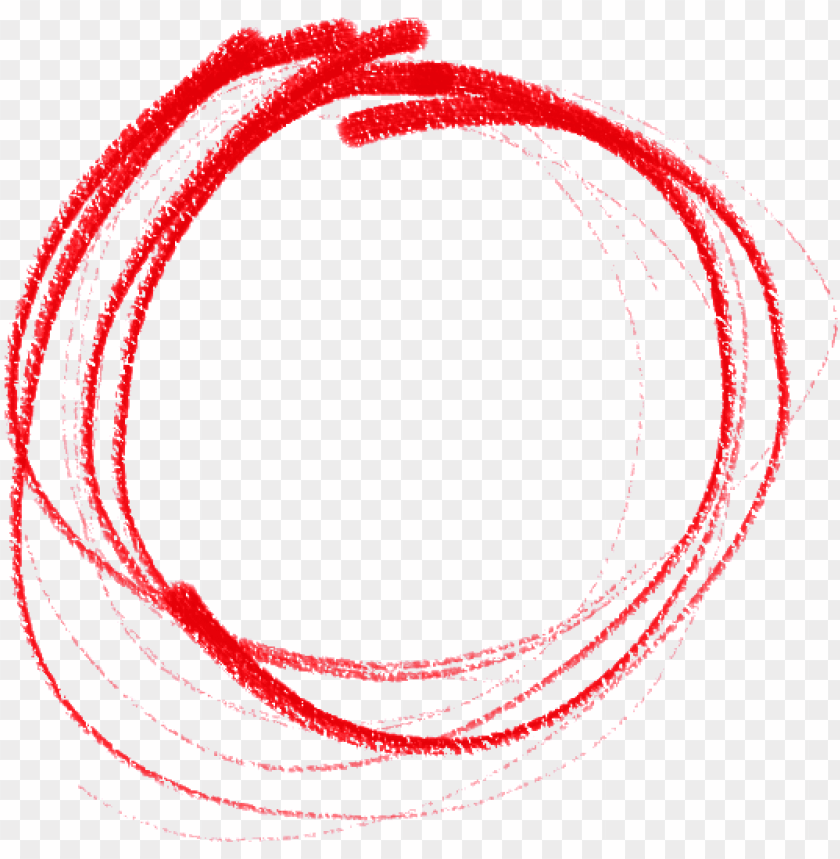 Red Circle Pencil Drawn png