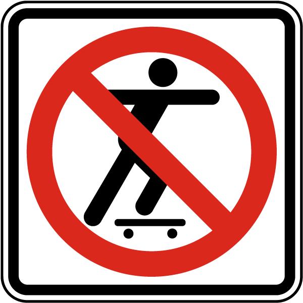 Skateboarding Prohibited Sign Png