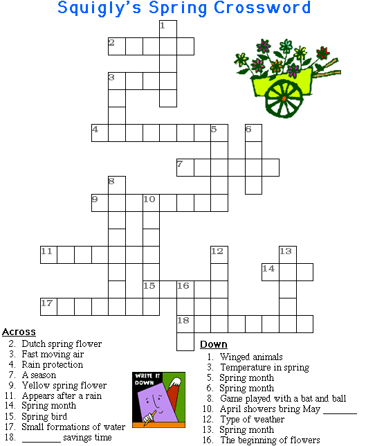 Spring Word Search Printable Crossword png