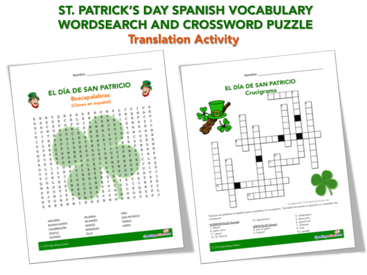 St Patrick's Day Word Search Printable PNG