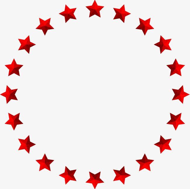 Star Red Circle png