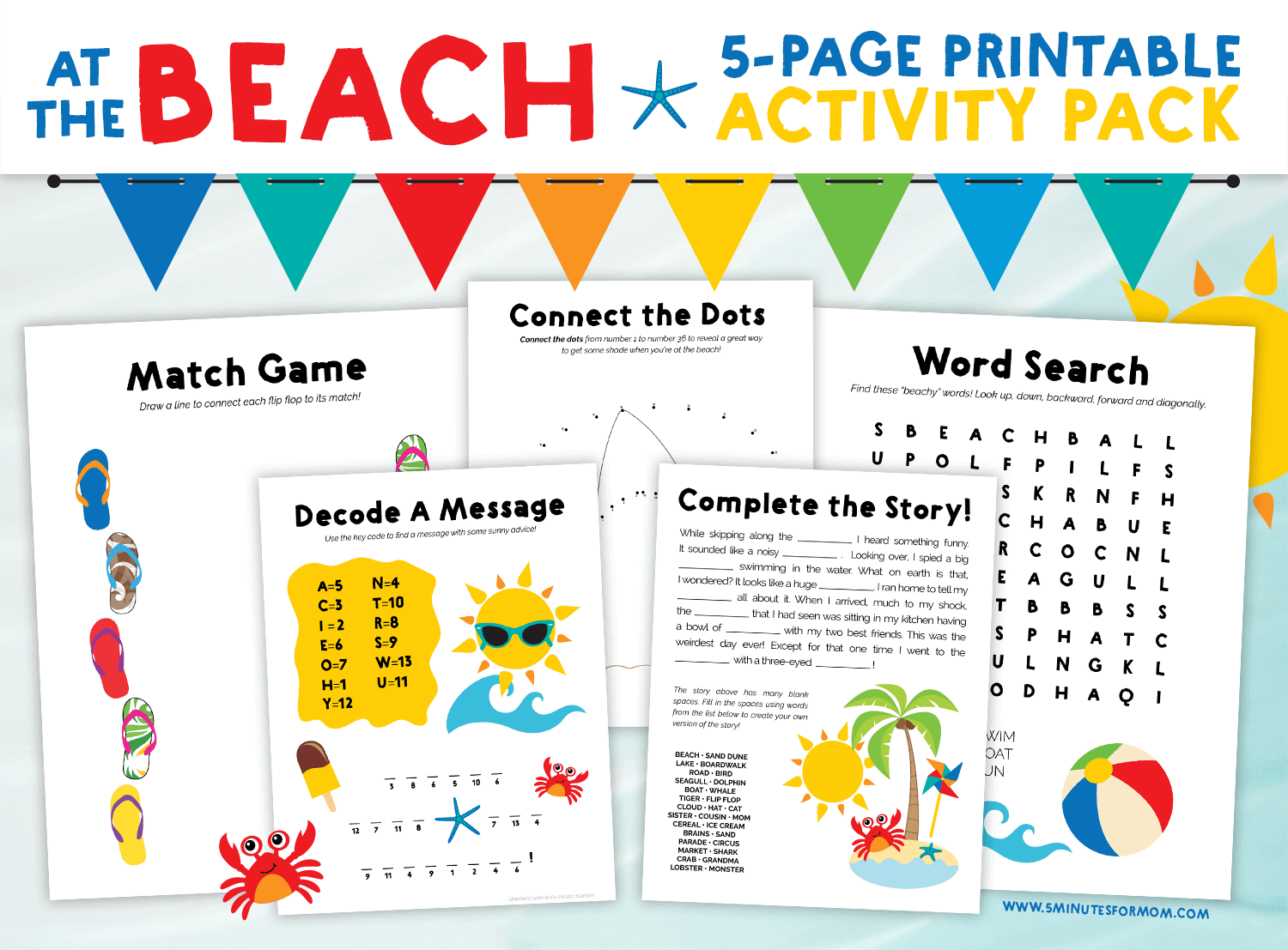 Summer Word Search Printable Puzzle Free Idea png