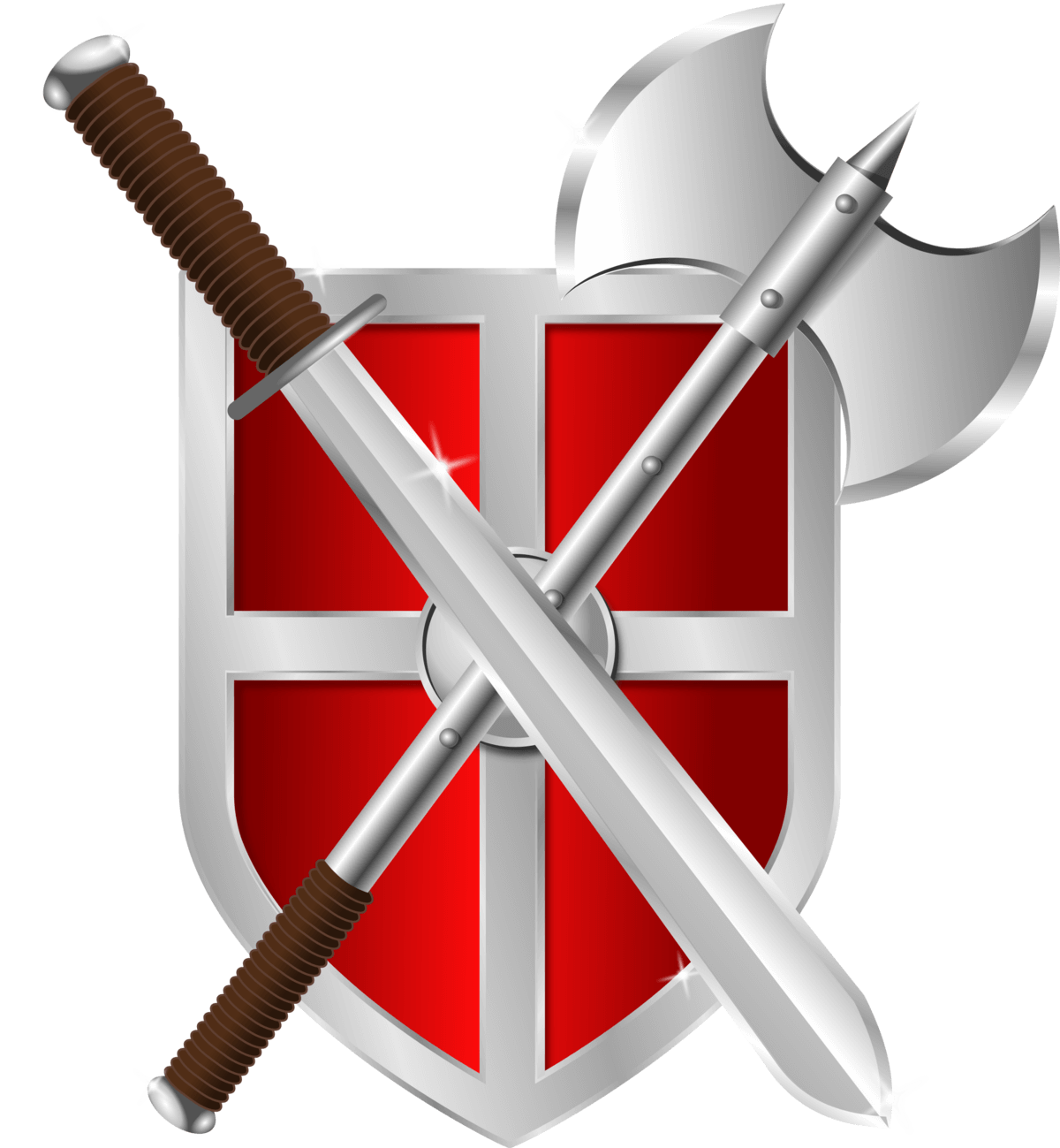 Sword Battleaxe And Shield Png