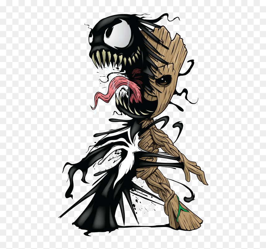 Venom Vs Groot png