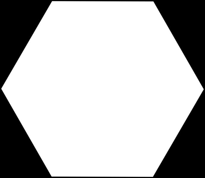 White Hexagon png