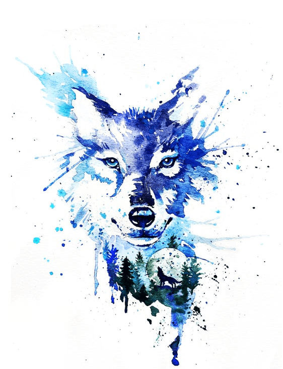 Wolf And Moonlight Png