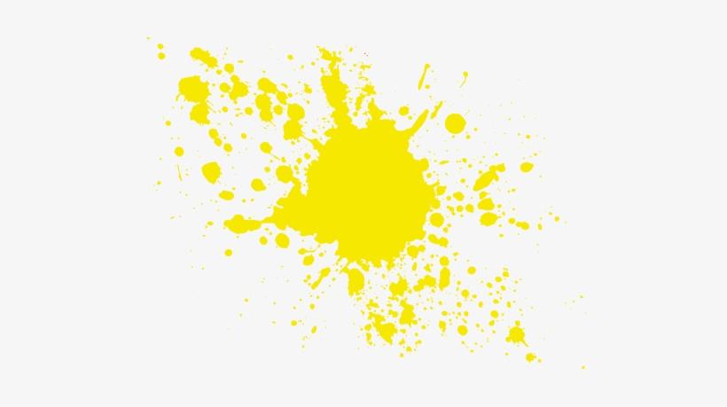 Yellow Paint Splatter png