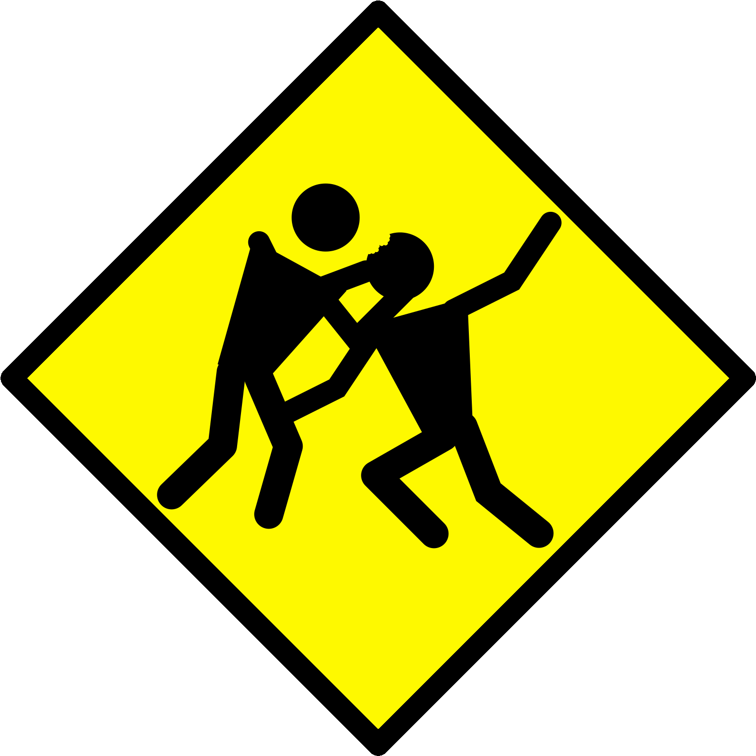 Caution-sign-warning-forbid-fighting-png