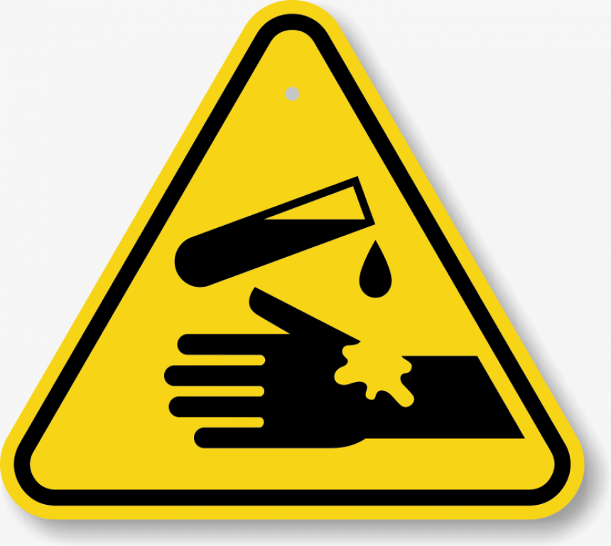 Caution-signs-for-washing-hands-with-chemicals